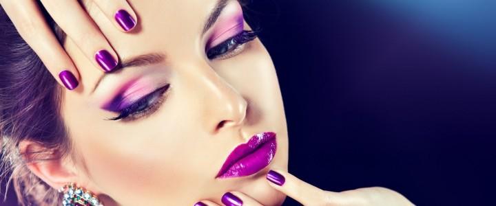 Hvordan lægger man brudemakeup i form af lilla smoky eyes?